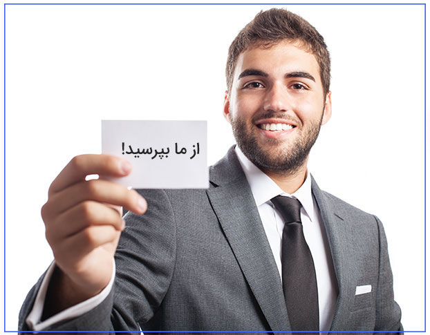 business man offering his contact card isolated on white